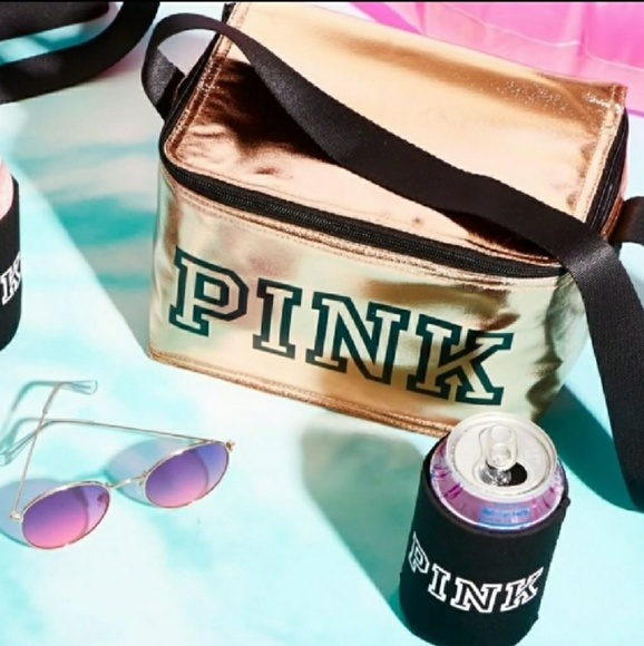 12df1a7fa7177 🆕PINK VS* ROSE GOLD COOLER /COOZIE Boutique